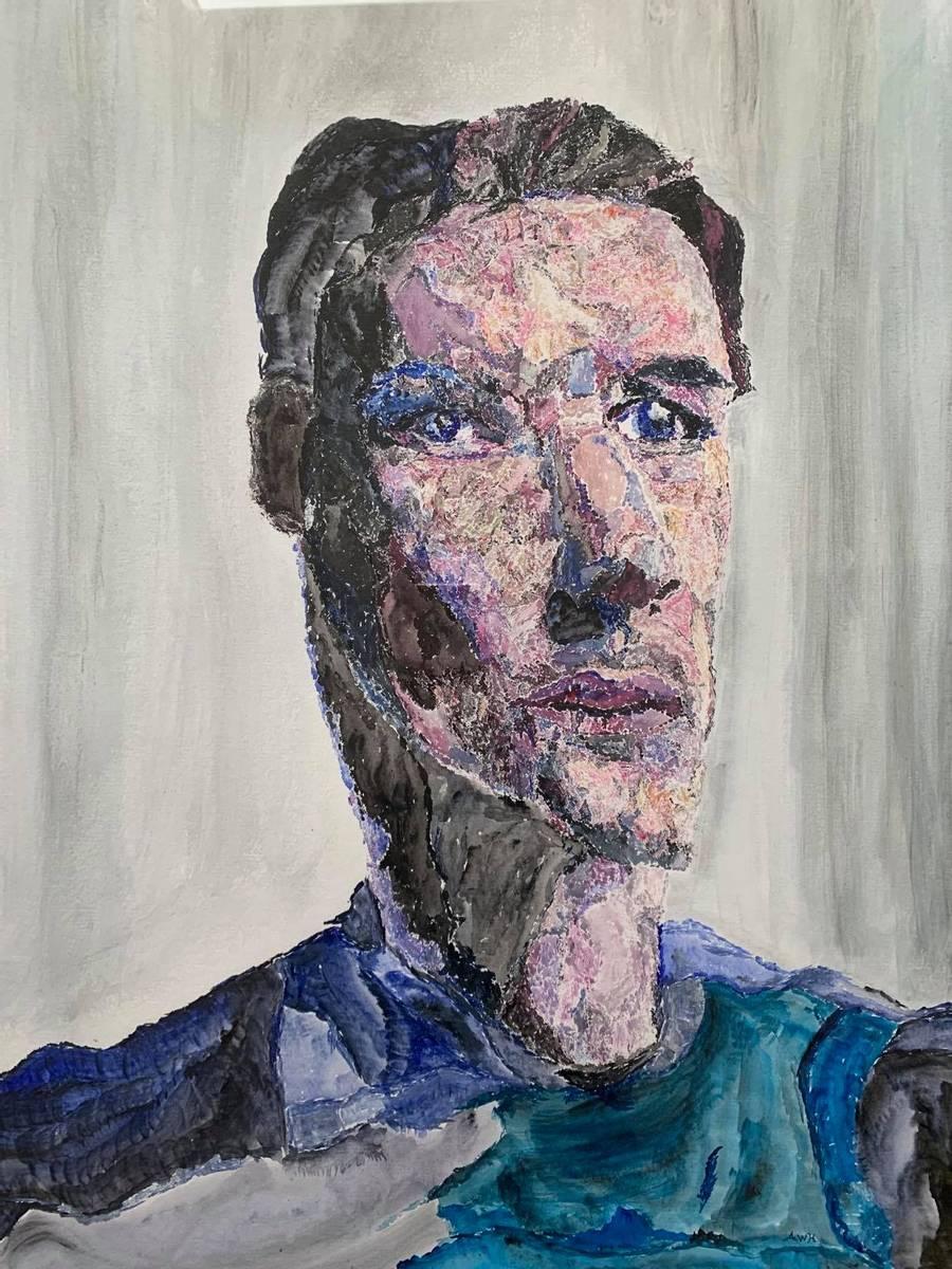 Portrett av en ung mann        , Andreas Widerøe Hagen